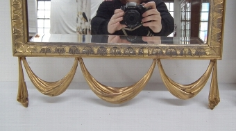 Antique Pair of Adams Style Gilded Pier Mirrors