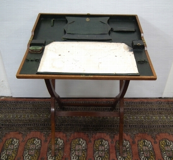 Antique Asprey of London Oak Folding Writing Desk