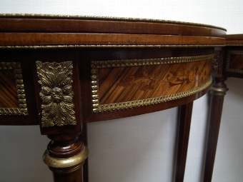 Antique Pair of 20th Century Louis XV Style Card Tables