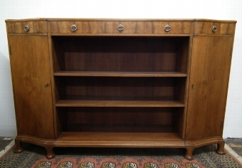 Antique Whytock & Reid Shaped Front Bookcase