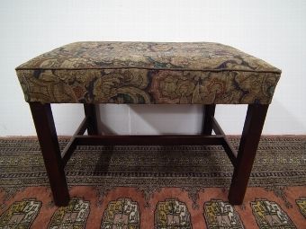 Antique George III Style Mahogany Stool