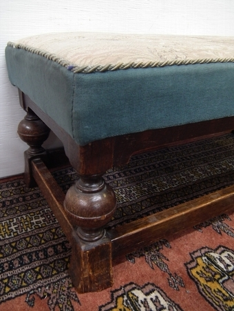 Antique Jacobean Style Low Fender Stool