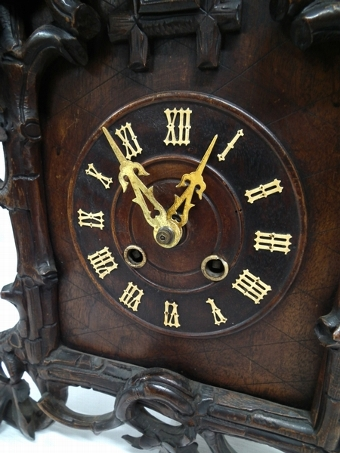 Antique Black Forest Carved Cuckoo Clock