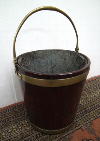 Antique George III Mahogany Irish Peat Bucket
