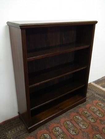 Antique Edwardian Stained Beech Open Bookcase