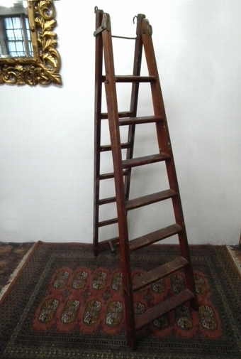 Antique Unusual Pair of Edwardian Stepladders