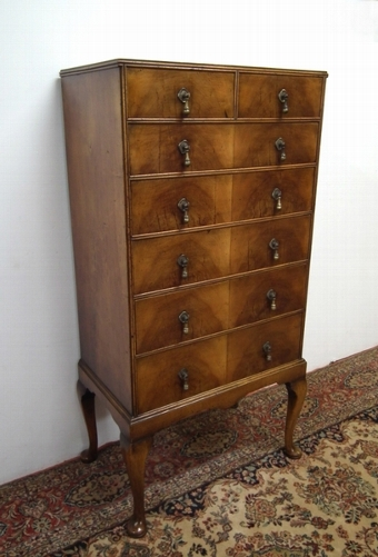 Antique George III Style Tall Chest of Drawers