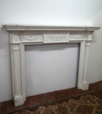 Antique George III Style Painted Mantelpiece