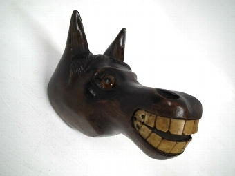 Antique Victorian Hand Carved Horse Head