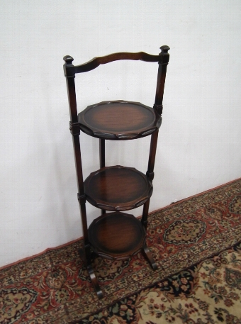 Antique Small Mahogany Folding Cake Stand