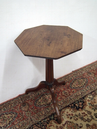 Antique George IV Octagonal Snap Top Occasional Table