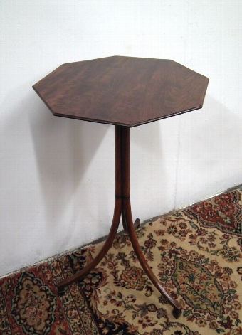 Antique Octagonal Mahogany Occasional Table