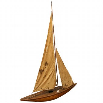 Antique Model Sail Boat