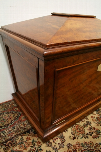 Antique Spanish Mahogany Sarcophagus Cellarette
