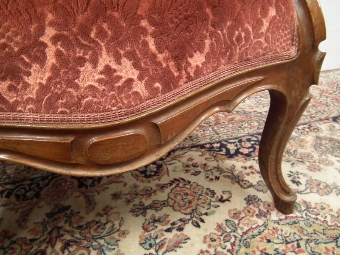 Antique Pair of Mid Victorian Carved Walnut Armchairs