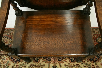 Antique Oak Monks Hall Bench