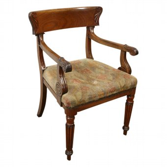 Antique George IV Mahogany Armchair