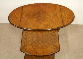 Antique Nest of 3 Burr Elm Occasional Tables