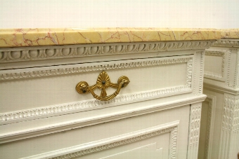 Antique Pair of Classical Style Painted Bedside Cabinets