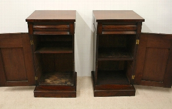 Antique Pair of Early Victorian Mahogany Cabinets