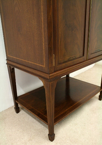 Antique Edwardian Figured Mahogany Music Cabinet