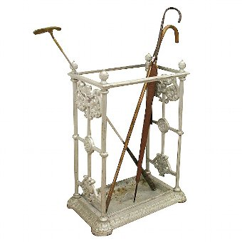 Antique Victorian Freestanding Cast Iron Stick Stand