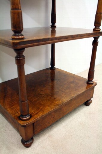 Antique Mid Victorian Burr Walnut Whatnot