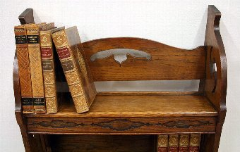 Antique Art Nouveau Oak Book Stand