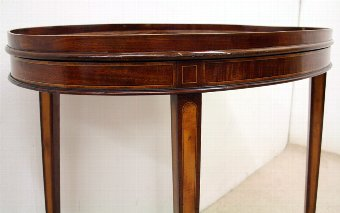 Antique Oval Mahogany Tray Top Table