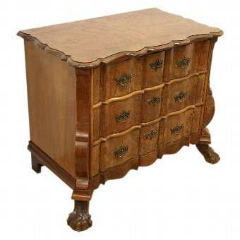 Antique Dutch Walnut Chest of Drawers