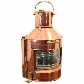 Antique Copper and Brass Ships Lantern