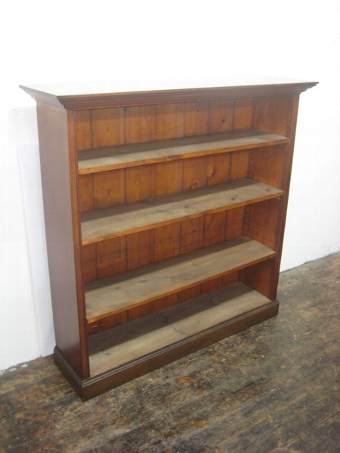 Antique Victorian Pine Open Bookcase