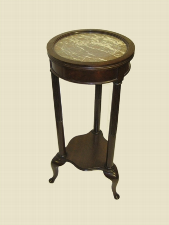 Antique Edwardian Mahogany Marble Top Stand