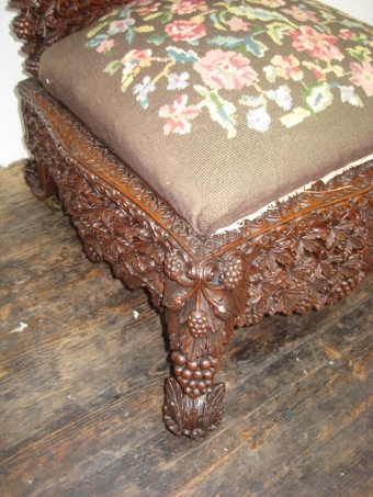 Antique Burmese Carved Chair