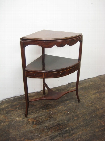 Antique Regency Mahogany Bowfront Washstand