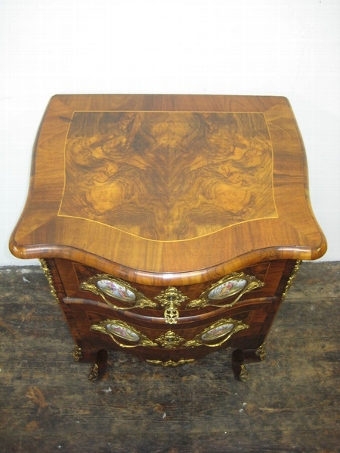 Antique French Burr Walnut Serpentine Commode