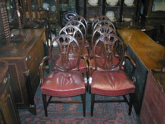 Antique :SALE: Set of 8 (6 + 2) George III Style Mahogany Dining Chairs