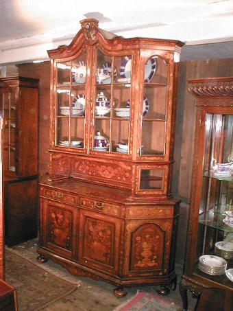 Antique Dutch Marquetry Cabinet