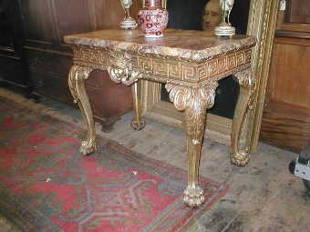 Antique Carved Giltwood Side Table