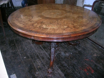 Antique Mid Victorian Exhibition Quality Breakfast Table