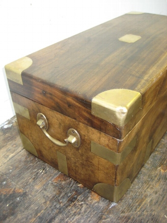 Antique Neat Sized Victorian Camphor Wood Travelling Trunk