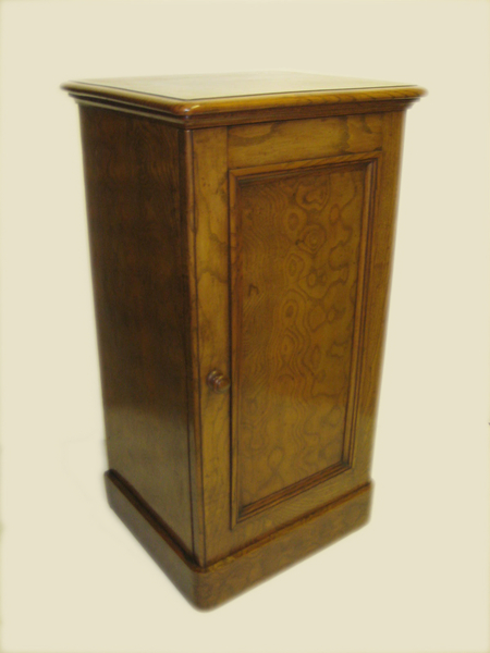 Mid Victorian Figured Elm Locker