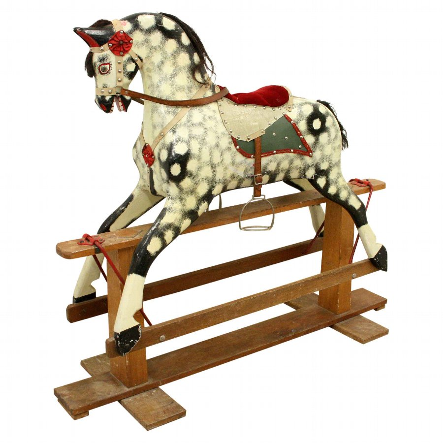 Carved Wood Rocking Horse