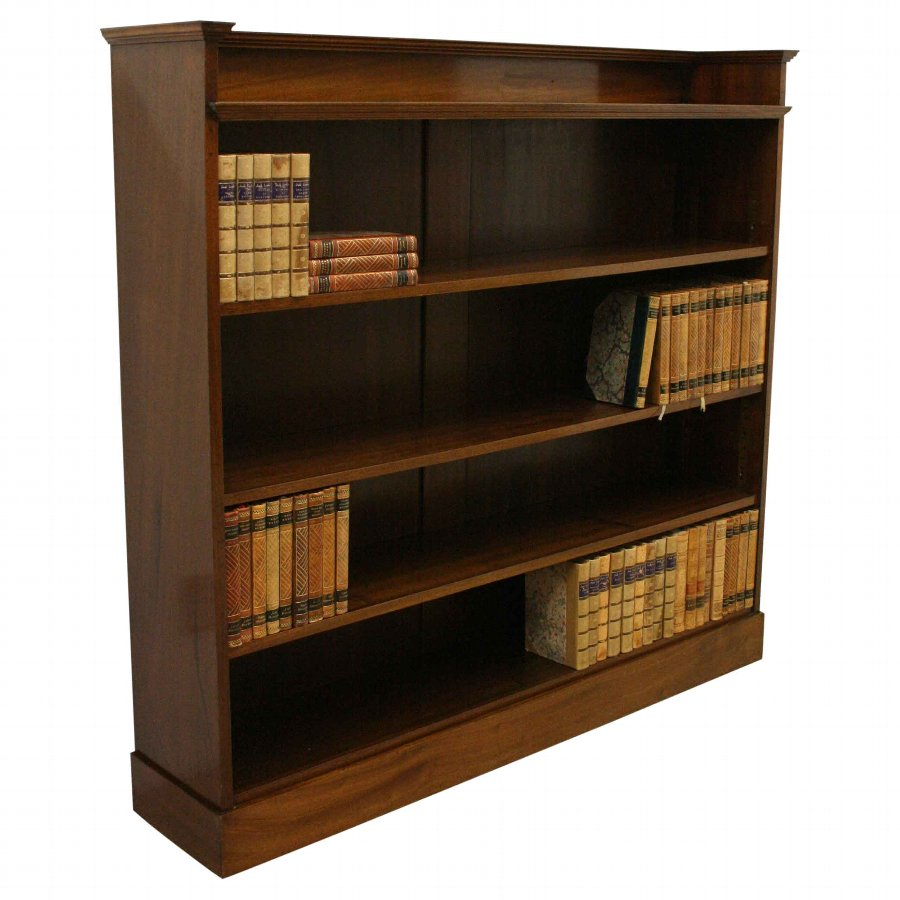 Art Nouveau Mahogany Open Bookcase