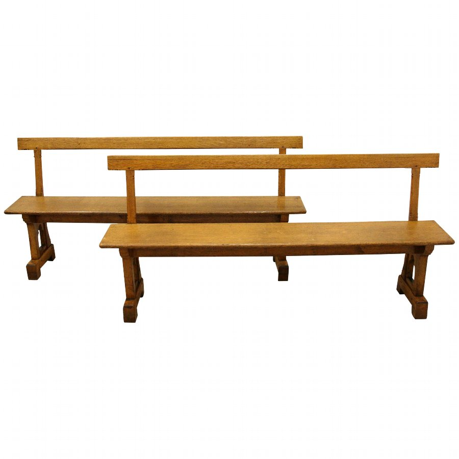 Pair of Oak Benches/Pews