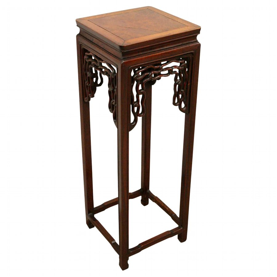 Chinese Hardwood Plant Stand