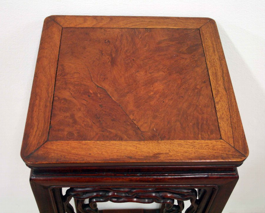 Antique Chinese Hardwood Plant Stand