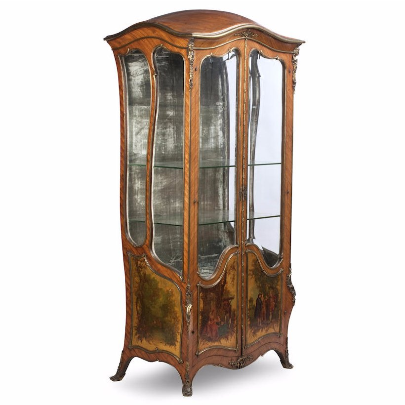 French Kingwood Vitrine Cabinet