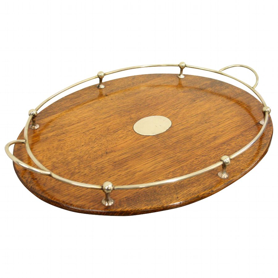 Oval Oak Tray