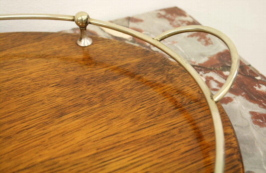 Antique Oval Oak Tray